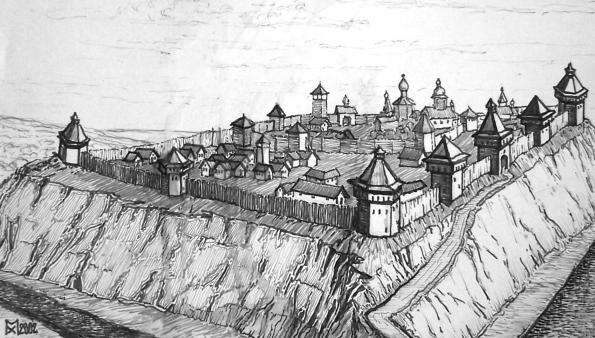 Курский острог в XVII веке (Рис. М. Хилюка)