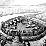 Славянское поселение при слиянии рек Тускарь и Кур, IX - X вв. (Рис. М. Хилюка)