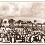 Самое первое изображение Красной площади. На гравюре начала XIX века изображен вынос иконы перед Крестным ходом