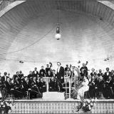 Симфонический оркестр под управлением К.А. Миньяра. Сезон 1908 года. Музыкальная раковина в Саду общественного клуба