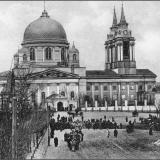 Крестный ход на Красную пл. 18 апреля 1898 г. по случаю открытия трамвайного движения