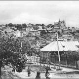 Общий вид г. Курска с юго-западной стороны. От угла Покровской (ныне - ул. Большевиков) и Луговой улиц.