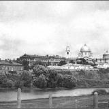 Общий вид города Курска. Из-за реки от 1-го моста ж.-д. ветки на набережную