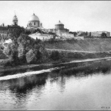 Знаменский монастырь и город. Из-за реки от 1-го моста ж.-д. ветки на север