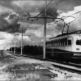 Трамвай 3-го маршрута идет на Химволокно. 1961 год