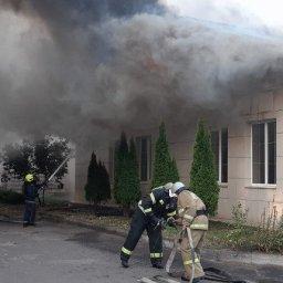 В Железнодорожном округе Курска сгорело административное здание